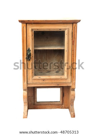 antique wall cupboard - stock photo