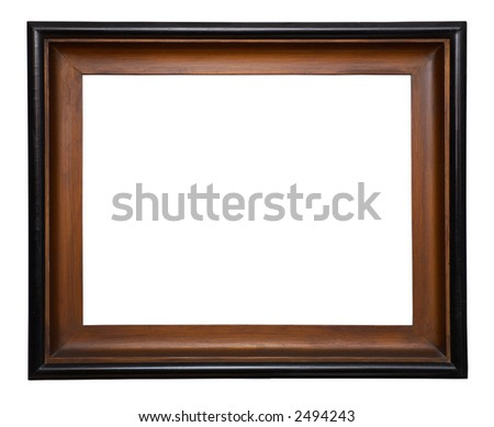Antique wooden frame. - stock photo