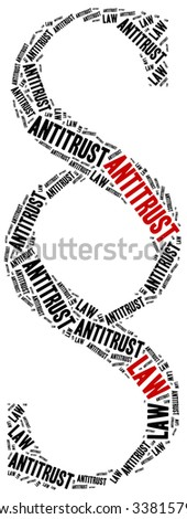Antitrust law. Concept related to different areas of law. - stock photo