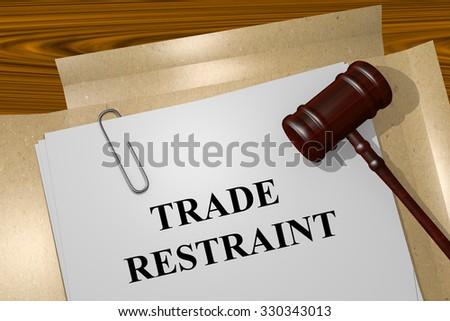 Antitrust Title On Legal Documents - stock photo
