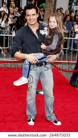 Antonio Sabato Jr at the Los Angeles premiere of 'Hannah Montana The Movie' held at the El Capitan Theater in Hollywood on April 4, 2009.  - stock photo