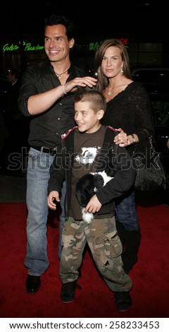 """Antonio Sabato jr.  attends the Warner Bros World Premiere of """"Firewall"""" held at the Grauman's Chinese Theatre in Hollywood, California on February 2, 2006 .  - stock photo"""