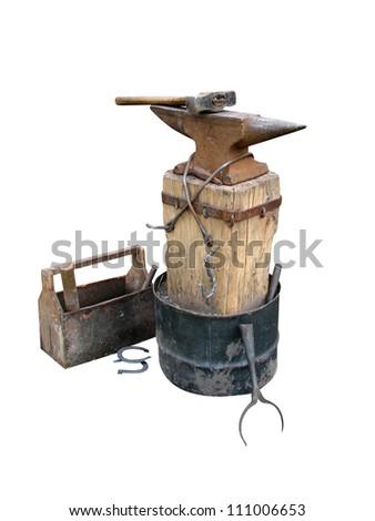 anvil instruments metalwork - stock photo