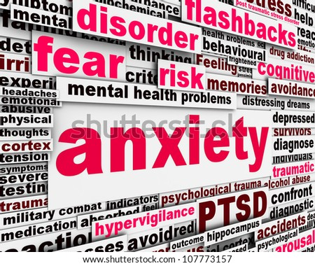 Anxiety disorder symbol  message conceptual design - stock photo