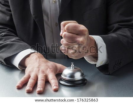 anxiety management in service industry - stock photo