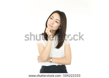 Anxiety women - stock photo