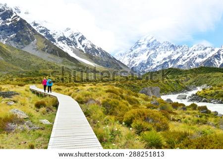Aoraki Mount Cook National Park - stock photo