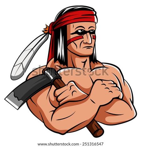 Apache Mascot - stock photo
