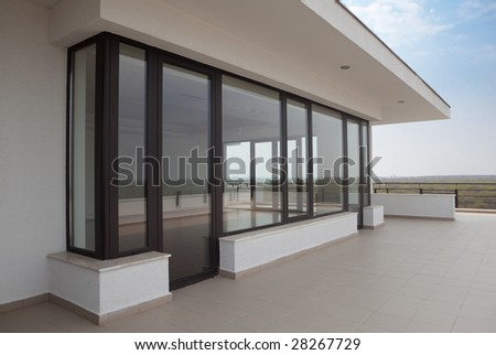 Apartment balcony - stock photo