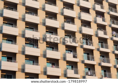 apartment building - stock photo