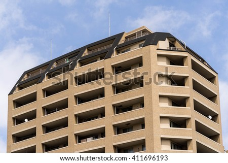 Apartment building in Japan - stock photo
