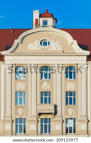 Apartment Building in Riga - stock photo
