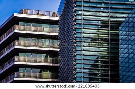 Apartment building in Washington, DC. - stock photo