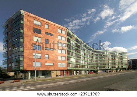 apartment building located at Tallinn - stock photo