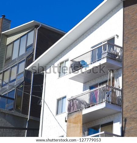 Apartment building, Residential architecture - stock photo
