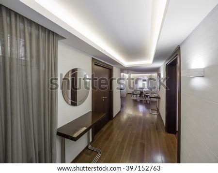 Apartment hallway - stock photo