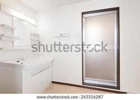 Apartment washroom of Japan - stock photo