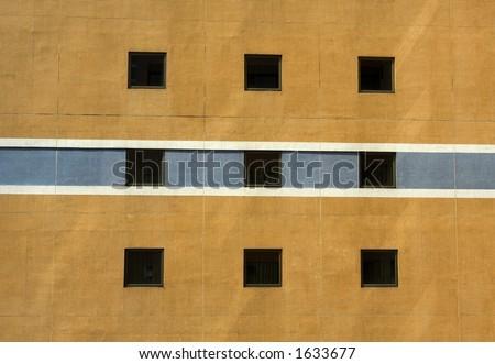Apartment windows - stock photo