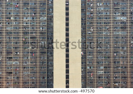 Apartments in a housing estate - stock photo
