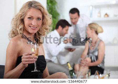 Aperitif with friends - stock photo