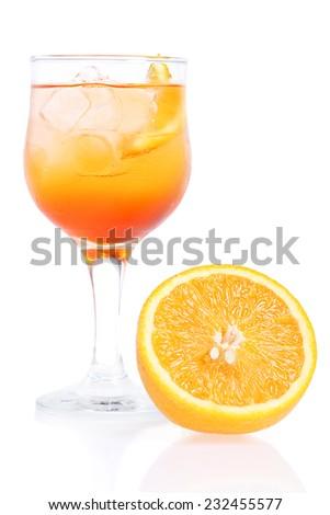aperol spritz cocktail - stock photo