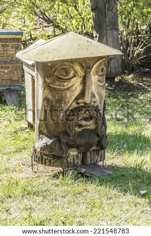 Apiary Piotr Prokopovich near Kochubey House, preserved to this years. Prokopovich Apiary had more than 10,000 bee colonies and was largest in world. Chernigivsky district, Baturyn, Ukraine. - stock photo