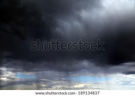 Apocaliptic stormy sky background - stock photo