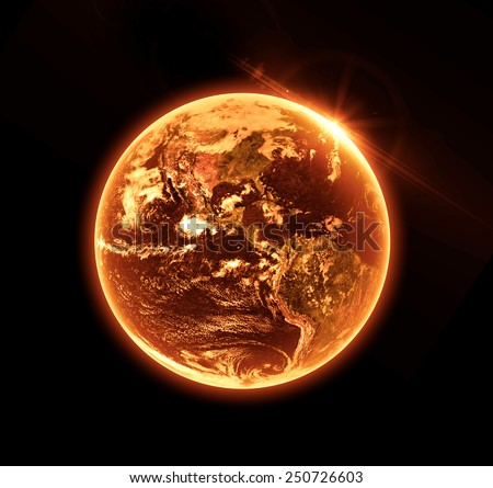 Apocalypse Earth - Elements of this Image Furnished By NASA - stock photo
