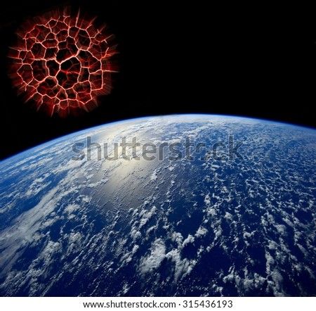 Apocalypse.Elements of this image furnished by NASA - stock photo