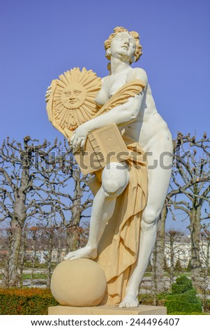 Apollo statue - stock photo