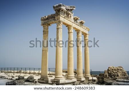 Apollon Temple Ruins Antalya,Turkey - stock photo