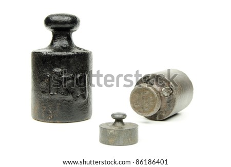 apothecaries' weights - stock photo