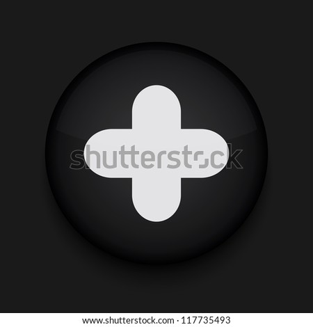 app circle plus black icon - stock photo