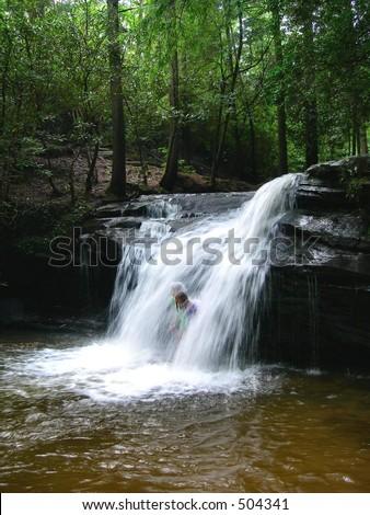 Appalachia Waterfall - stock photo