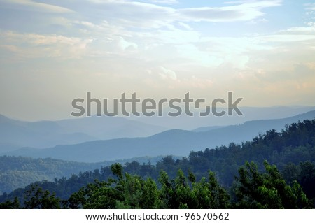 Appalachian Mountains Landscape - stock photo