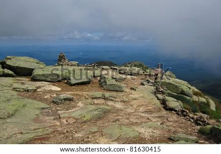 Appalachian Trail in New Hampshire - stock photo