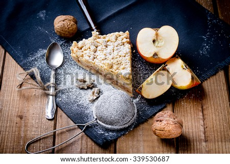 Appetizing apple pie - stock photo