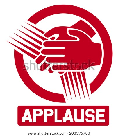 applause sign (clapping icon, clapping hands) - stock photo