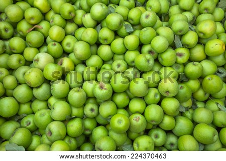 Apple background - stock photo