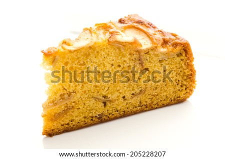 Apple cake - stock photo