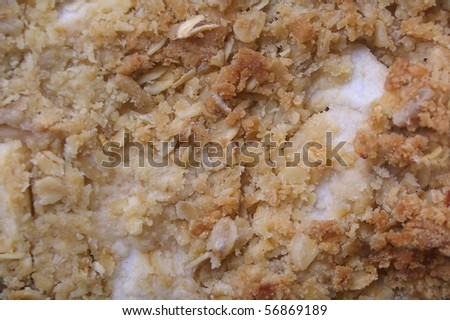 apple crumble or cobbler background texture with star anise - stock photo
