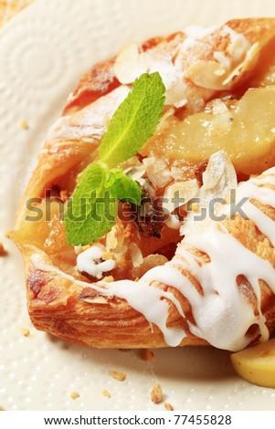 Apple Danish pastry  - stock photo