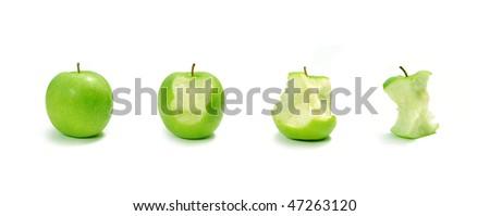 Apple evolution - stock photo