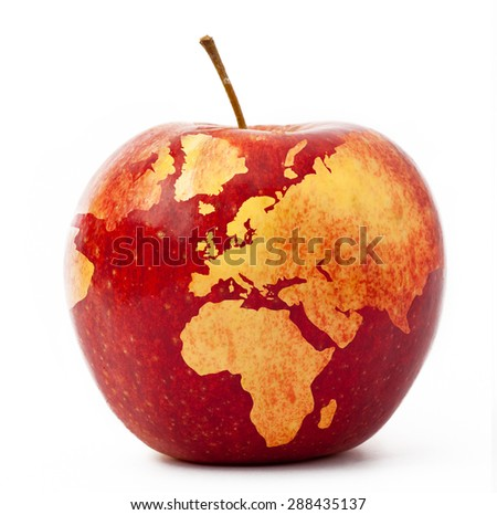 apple-globe - stock photo