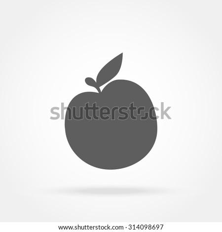 apple icon - stock photo