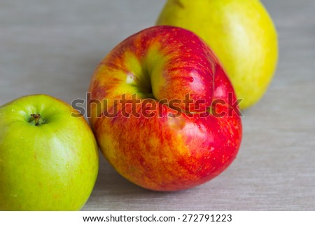 Apple in the form of a smile. - stock photo