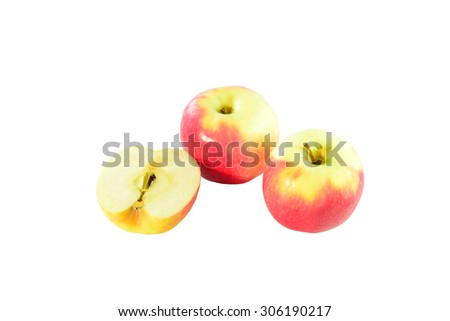 Apple is a delicious fruit that is eaten all ages. And the fruits that are packed with nutritious, great. - stock photo