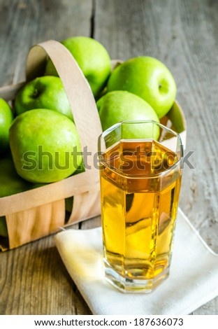 Apple juice with fresh apples - stock photo
