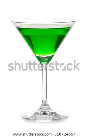 Apple martini cocktail - stock photo