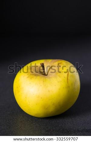 Apple on dark background  - stock photo